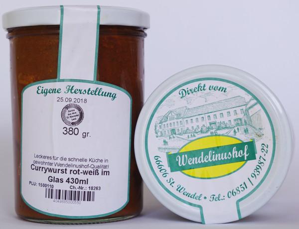 Currywurst rot-weiß im Glas 430ml Wendelinushof
