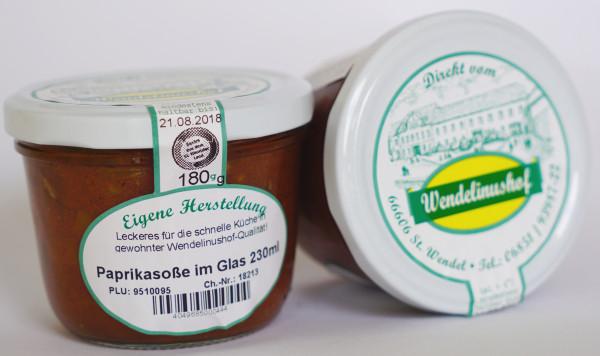 Paprikasoße im Glas 230ml Wendelinushof