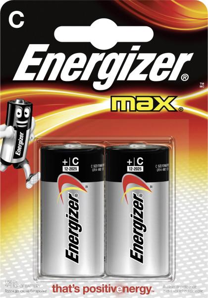 MAX Alkaline Batterien C/Baby/LR14 2erA