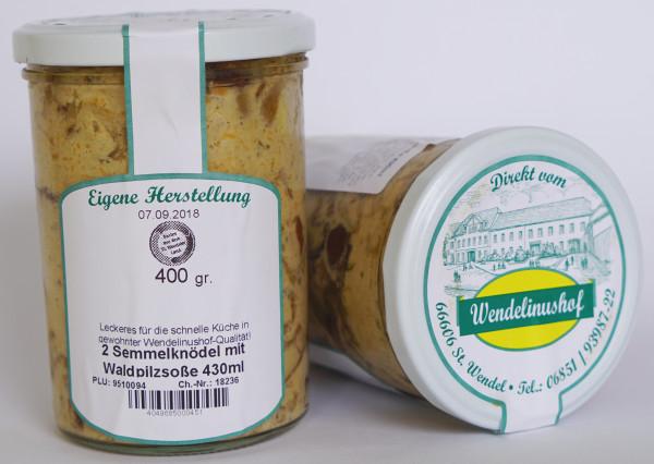 2 Semmelknödel mit Waldpilzsoße 430ml Wendelinushof