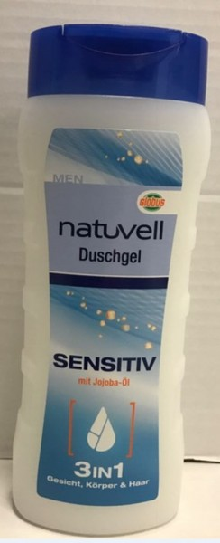 natuvell Men Dusche 300ml, Sensitiv