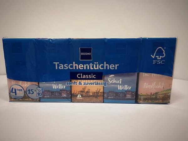 Budni Taschentücher 4lg 15x10 Stück