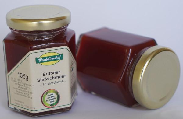 Sießschmeer Erdbeer 105g Glas Wendelinushof