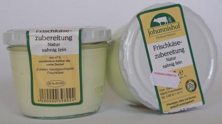Frischkäse natur 200 g Johannishof
